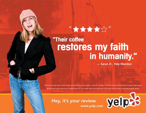 Yelp - американский сайт отзывов